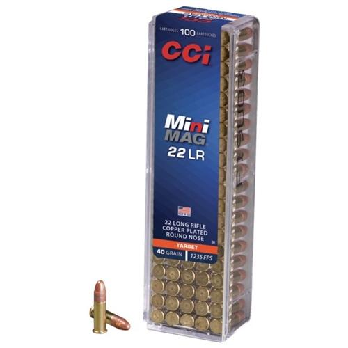 5000 Rounds PLASTIC CONTAINER CCI Mini-Mag High Velocity 22 LR 40 Grain Copper Plated Round Nose FAST SHIPPING! IN STOCK!