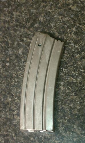 Ruger Mini-14 .223 cal 30 round magazine Nickel finish