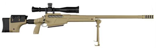 Sig Sauer 50 BMG w/Muzzle Break & Bipod Bolt 50 Browning  5 Round