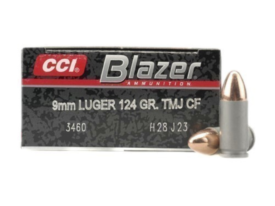 CCI 9MM 124GR TMJ BLZ CLEANFIRE