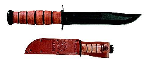 Ka-Bar 1217 USMC Fixed Blade w/Sheath