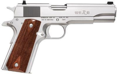 """Remington 1911 R1 Semi-automatic 1911 Full 45 ACP 5"""" Steel Stainless Walnut 7Rd 2 Mags Fixed Sights"""