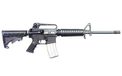"""Bushmaster M4A2 Semi-automatic AR 223 Rem 16"""" Black Telestock Bayonet Lug and A2 Birdcage 30Rd"""