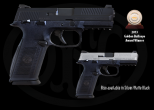 The FNS-9/FNS-40 offers the simplicity of double-action striker-fired operation with the additional security of a manual safety. All operating controls are fully ambidextrous for ease of use with either hand and from any shooting position.