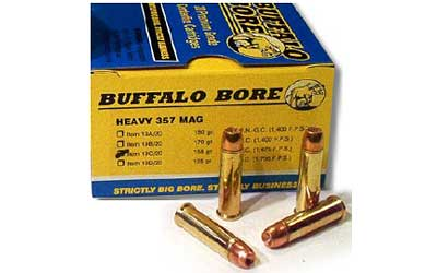 Buffalo Bore Ammunition Heavy 357 Mag 158Gr Jacketed Hollow Point 20
