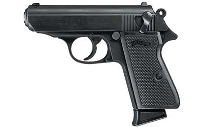 """Walther PPK/S Semi-automatic Double Action Compact 22LR 3.35"""" Alloy Black Plastic 7Rd Fixed Sights"""