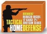 "Brenneke 12 Gauge 2.75"" 1 Tactical Home Defense 5 Rounds"