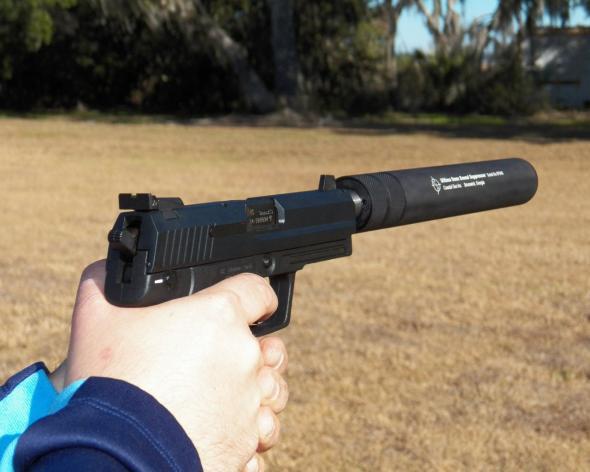 Coastal Gun Ultima  45 Caliber Pistol Suppressor