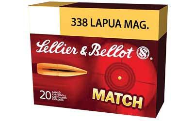 Sellier & Bellot S&B 338 LAPUA 250GR MATCH GRADE SIERRA HPBT 10 Round Box