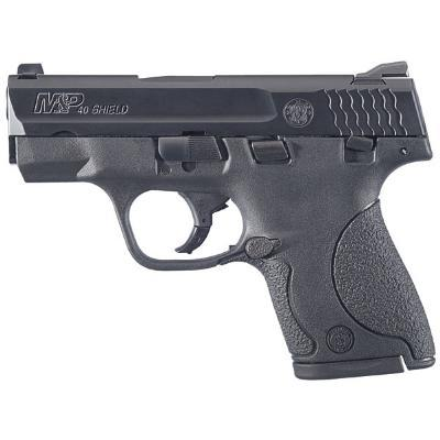 "Smith & Wesson Shield, Double Action Only, Compact, 40 S&W, 3.125"" Barrel, Polymer Frame, Blue Finish, 3 Dot Sights, Thumb Safety, 6 and 7Rd, 2 Magazines, California Approved 187020"