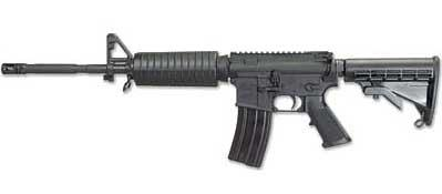 "Windham Weaponry 5.56 NATO 16"" M4 barrel 6-Position telestock Flat top Less carry handle 30 rounds"