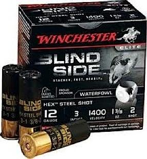 "Winchester Blind Side Magnum  12 gauge  3"" shell  1 3/8 ounce  1400 fps  #2  200 rounds"