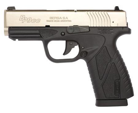 "Bersa Conceal Carry 9mm ""Slim Line Glock 43 G43 Like"" 3.3 Inch Barrel DuoTone Finish Polymer Frame Adjustable Sights 8 Round"