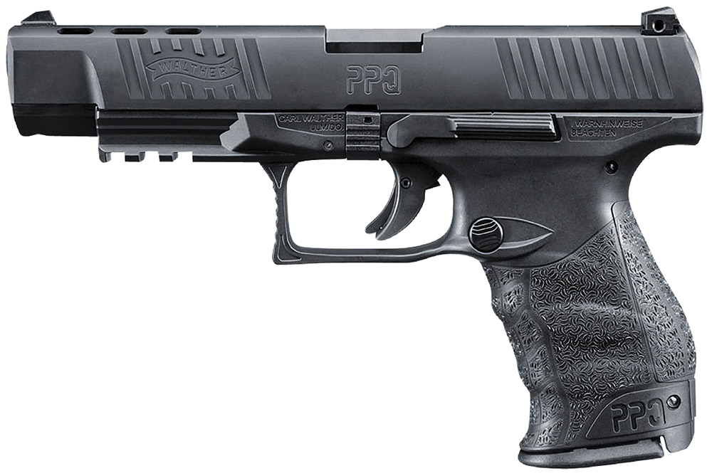 "Walther Arms PPQ M2 9mm 5"" 14+1 Poly Grips Black"