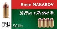 GECO 2317945 9mm Makarov (9x18) Full Metal Jacket 95 GR 50 Rounds In Box