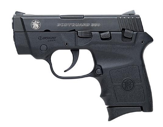 "Smith & Wesson Bodyguard 380 ACP 2.75"" 6+1 w/Integral Laser Syn Grip Black Melonite"