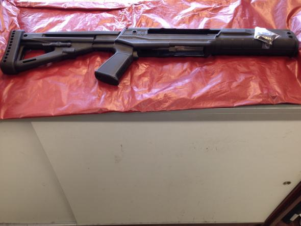 Used Archangel Sparta Pistol Grip Collapsible Stock System Ruger Mini 14,  Mini 30 Synthetic Black
