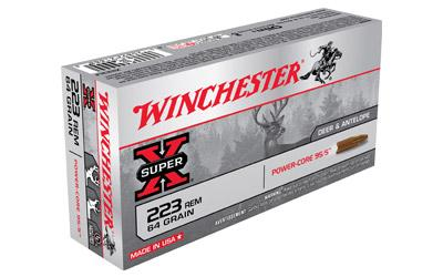 Winchester Super-X 223 Rem 64Gr Power Core 95/5 Copper Alloy Lead Free 20