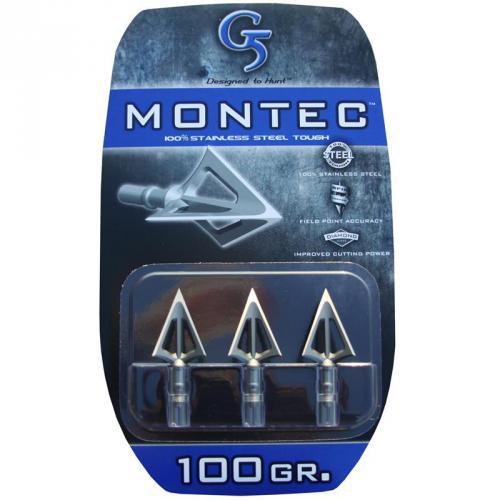G5 MONTEC 100 GR BROADHEADS 100/% STAINLESS STEEL NEW 3 PACK