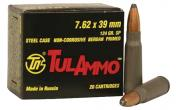 Tulammo UL076206 Centerfire Rifle 7.62X39 124GR Soft Point 20Bx/50Cs