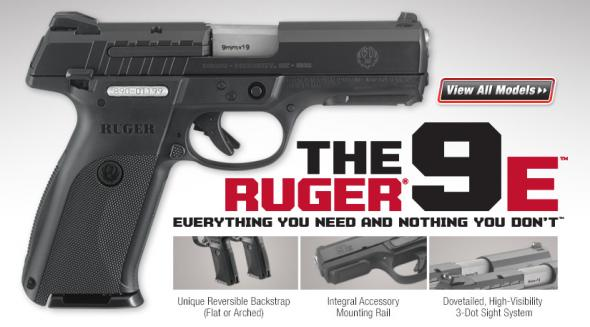 "Ruger New SR9 ""E"" Series  Standard Double 9mm 4.1"" 17+1 Black Polymer Grip Blued 💲💲$359.95💲💲"