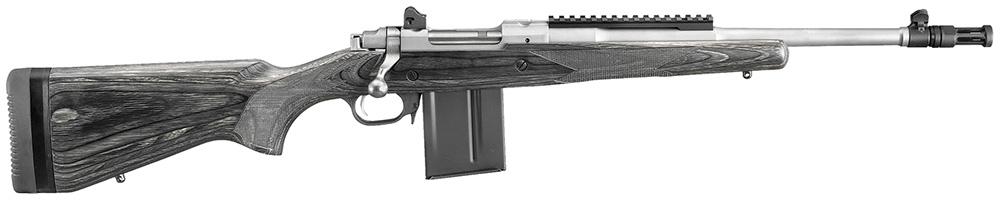 """Ruger 6825 Gunsite Scout Bolt 223 Rem/5.56 NATO 16.1"""" 10+1 Blk Lam Stk SS"""