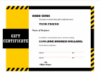 Gift Certificates $any amount