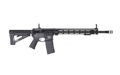 "FN, FN15 Designated Marksman Rifle, Semi-automatic, 556NATO, 18"" Hammer Forged Barrel, Black Finish, MOE Grip, MBUS Pro Sights, 30Rd, Midwest Industries SSM MLOK 15"" Rail, Timney Competition Trigger, Surefire ProComp MB"