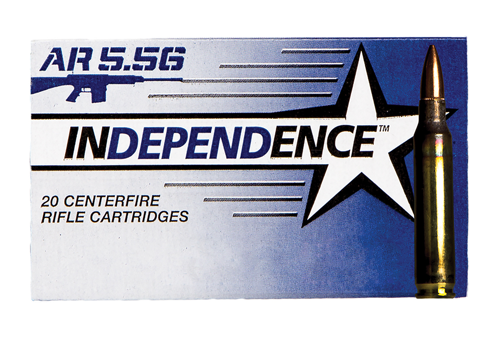 Federal XM193I Independence 5.56 NATO 55 GR FMJ 20Box/25Case