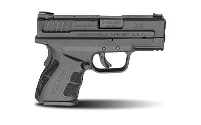 """Springfield XD-Mod.2, 45 ACP, 3.3"""" Barrel, Polymer Frame, Black Finish, Fixed Sights, 2 Magazines, 13Rd, Belt Holster, Double Magazine Pouch, Magazine Loader, Lock, Fired Case, XDG9845BHCSP"""