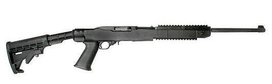 Ruger 10 + 1 Round 22 Long Rifle w/Blue Finish/Tapco Stock