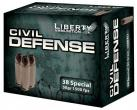 Liberty Civil Defense .38 Special 50 Grain Fragmenting Hollow Point 1500 fps 20 Rounds