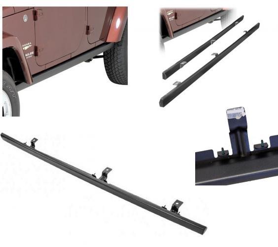 MOPAR Rubicon Rock Rails in Satin Black For 07-15 Jeep Wrangler Unlimited