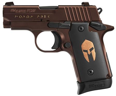 Super Priced!!! SIG P238 Spartan .380 ACP 2.7 Inch Barrel Siglite Night Sights Oil Rubbed Bronze Frame and Slide Finish Black Spartan Grips 6 Round 💲💲Cash $449.95💲💲