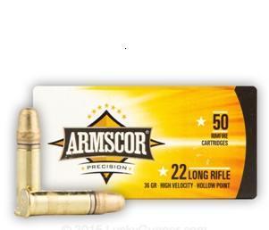 Armscor 22LR 36gr HVHP 500 rnds