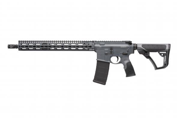 "Daniel Defense, M4 Carbine, Semi-automatic Rifle, 223Rem/5.56NATO,16"" Barrel, 1:7 Twist, Tornado Grey Finish, PistolGrip, 30Rd, 1-30Rd PMag"