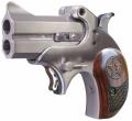 "Bond Arms MINI 45 Colt, 2.5"" Interchangable Barrel, 2 Rounds, Stainless Steel Satin Finish, Rosewood Grips"