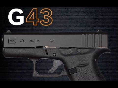 Glock 43 9mm Single Stack 3.39 Inch Barrel Fixed Sights Black 6 Round