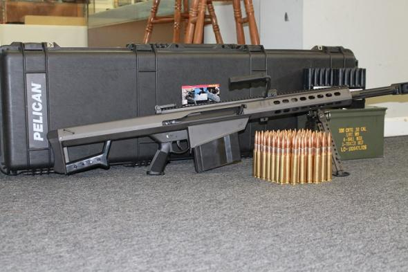 Barrett 50cal  70 rounds and Pelican Case