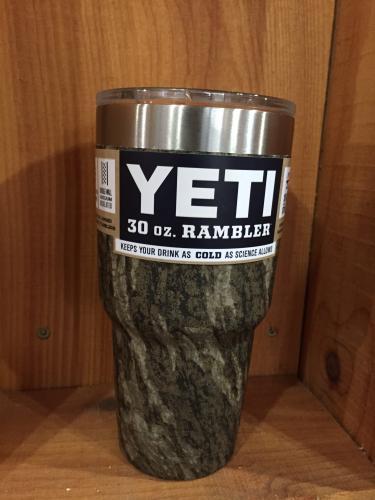 Yeti Custom Stainless 30oz. Rambler dipped in Bottomland camo