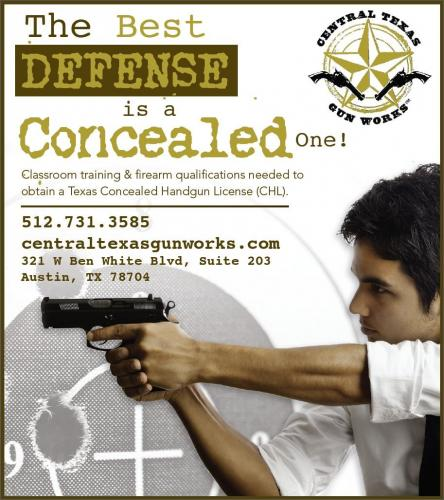 August 28, 2016: CHL / LTC Texas License To Carry A Handgun Class: $65