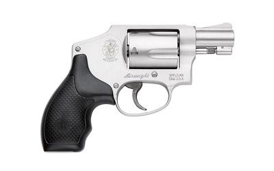 "Smith & Wesson 642, Double Action Only, Small Revolver, 38 Special, 1.875"" Barrel, Alloy Frame, Stainless Finish, Rubber Grip, Fixed Sights, 5Rd, without Internal Lock 103810"