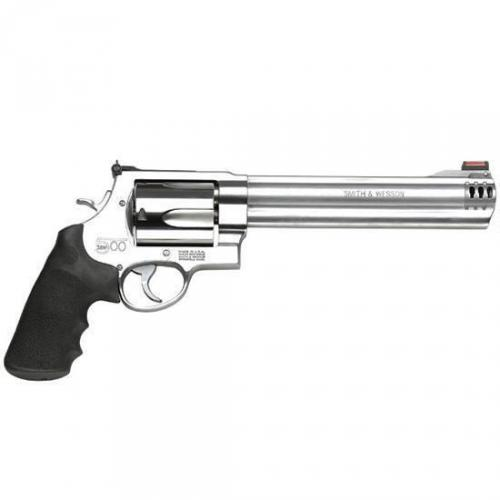 "Smith & Wesson 500, 500 S&W, 8.375"" Barrel, Stainless Frame, Stainless Finish, Rubber Grips, HiViz Front Sight, 5Rd 163501"