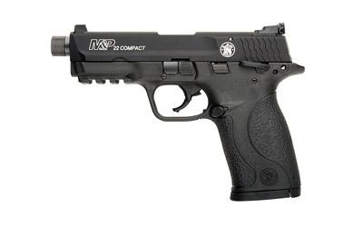 """Smith & Wesson M&P Compact, 22LR, 3.6"""" Threaded Barrel, Polymer Frame, Black Finish, Adjustable Sights, Ambidextrous Safety, 10Rd, 2 Magazines, Thread Adapter, Fired Case 10199"""