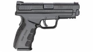 "Springfield, XD-MOD.2 with GripZone, 9MM, 4"" Barrel, Polymer Frame, Black Finish, Fiber Optic Front and Low Profile Combat Rear Sights, 16Rd, 2 Magazines"