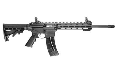 "Smith & Wesson, M&P15-22, Semi-automatic, AR, 22LR, 16.5"" Threaded Barrel, Black Finish, Black Collapsible Stock, 25Rd"