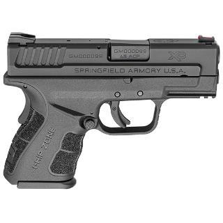 "Springfield, XD-MOD.2 with GripZone, 45 ACP, 3.3"" Barrel, Polymer Frame, Black Finish, Fiber Optic Front and Low Profile Combat Rear Sights, 2 Magazines, 1-9Rd & 1-13Rd"
