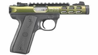 "Ruger, 22/45 Lite, Rimfire Pistol, 22LR, 4.4"" Threaded Barrel, Polymer Grip, OD Green Anodized Finish, 10Rd, 2 Magazines, Threaded Barrel, Adjustable Sights"