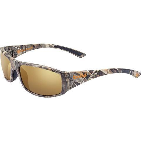 294faca430 Bolle Weaver Polarized Sunglasses Safety Glasses Brown Gold Lenses Nylon  Frames Realtree Max-5