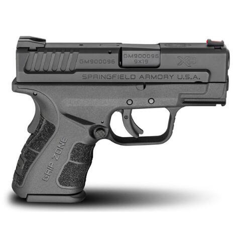 "Springfield, XD-MOD.2 with GripZone, 9MM, 3"" Barrel, Polymer Frame, Black Finish, Fiber Optic Front and Low Profile Combat Rear Sights, 2 Magazines, 1-13Rd & 1-16Rd"